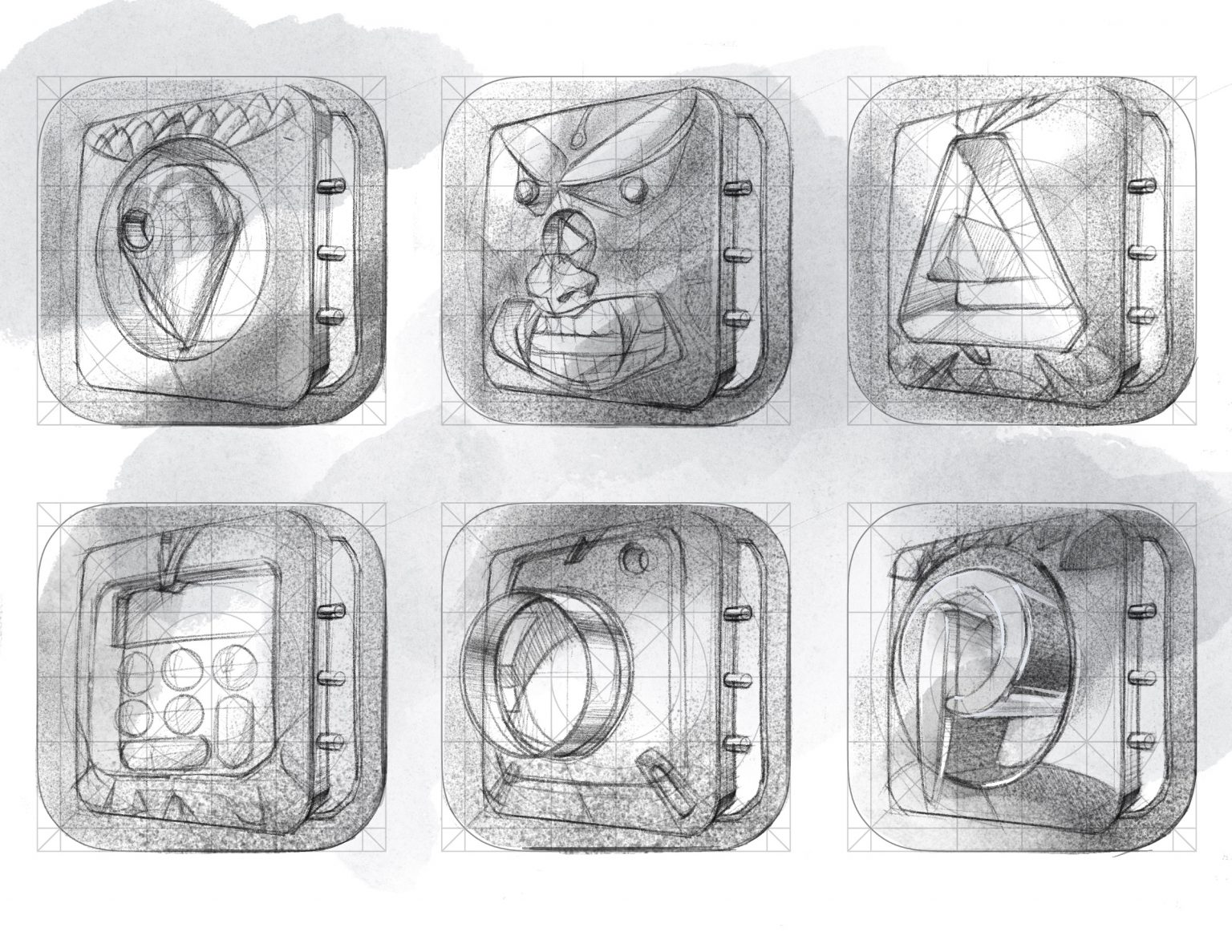 Read more about the article icon sketches in Procreate