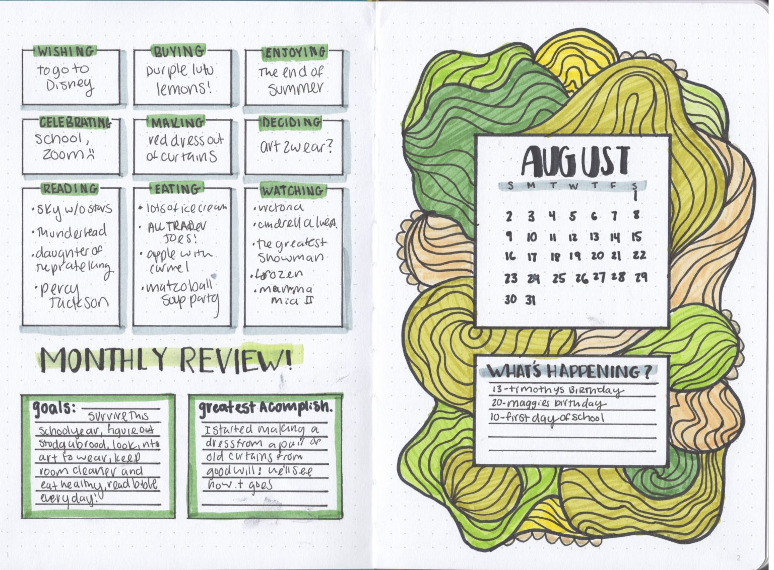 Protected: Mattea's Bullet Journal